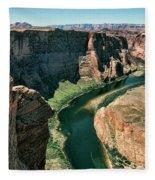 Horseshoe Bend Arizona Colorado River  Fleece Blanket