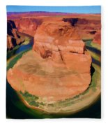 Horseshoe Bend Filters Paint  Fleece Blanket