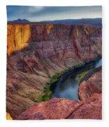 Horseshoe Bend Landscape Fleece Blanket