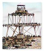 Horseshoe Reef Lighthouse 3 Fleece Blanket