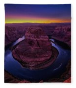 Horseshoe Sunset Fleece Blanket