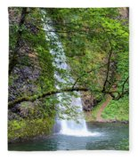 Horsetail Falls, Oregon Fleece Blanket