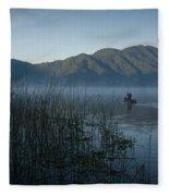 Horsetails On Lake Atitlan Guatemala Fleece Blanket
