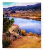 Horsetooth Lake Overlook Fleece Blanket