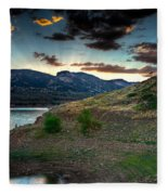 Horsetooth Reservior At Sunset Fleece Blanket