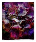 Colorful Hortensia Closeup Fleece Blanket