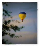 Hot Air Ballon In Oklahoma Fleece Blanket