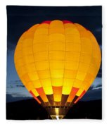 Hot Air Balloon Glow Fleece Blanket