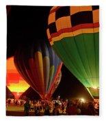 Hot Air Balloons At Night October 28, 2017 #2 Fleece Blanket