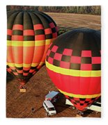 Hot Air Balloons Fleece Blanket