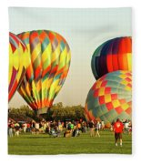 Hot Air Balloons Fleece Blanket