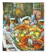 Hot Boiled Crabs Fleece Blanket