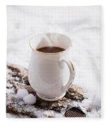 Hot Chocolate Drink Fleece Blanket