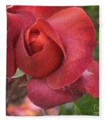 Hot Cocoa Rose Fleece Blanket