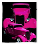 Hot Pink 33  Fleece Blanket