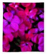 Hot Pink Florals Fleece Blanket