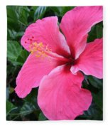 Hot Pink Hibiscus 1 Fleece Blanket