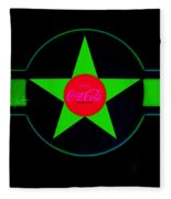 Hot Red On Cool Green Fleece Blanket