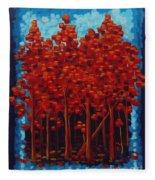 Hot Reds Fleece Blanket