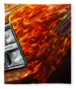 Hot Rod Chevrolet Scotsdale 1978 Fleece Blanket