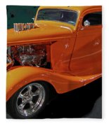 Hot Rod Orange Fleece Blanket