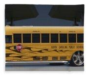 Hot Rod School Bus Fleece Blanket
