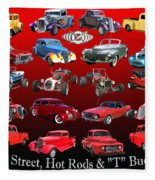 Car Show And Shine Poster Fleece Blanket