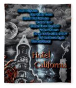 Hotel California Fleece Blanket