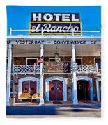 Hotel El Rancho Fleece Blanket