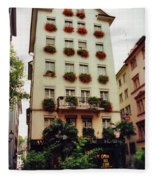 Hotel In Down Town Zurich Switzerland Fleece Blanket