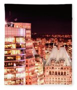 Hotel Vancouver And Sheraton Wall Center Fleece Blanket