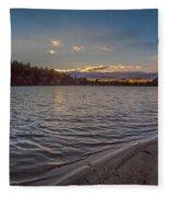 Houghton's Pond Sunset Fleece Blanket