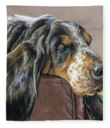 Hound Dog Fleece Blanket
