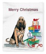 Hounddog Christmas Fleece Blanket
