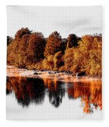 Housatonic River Mist Fleece Blanket