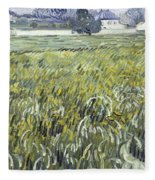 House At Auvers Fleece Blanket