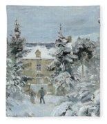 House At Montfoucault Fleece Blanket