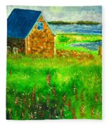 House By The Field Fleece Blanket