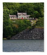 House By The Llyn Peris Fleece Blanket