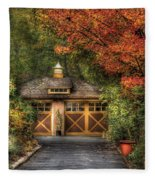House - Classy Garage Fleece Blanket