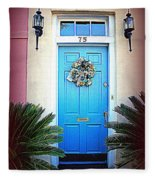 House Door 6 In Charleston Sc  Fleece Blanket
