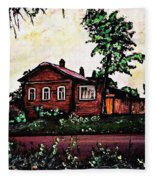 House In Sergiyev Posad   Fleece Blanket