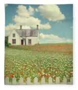 House In The Countryside Fleece Blanket