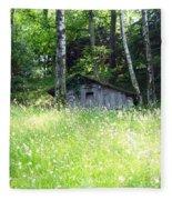 House In The Wood Fleece Blanket