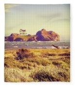 House On An Island Fleece Blanket