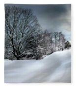 House On The Hill Winters In Vermont Fleece Blanket