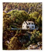 House On The Side Of The Mountain Fleece Blanket