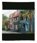 Houses In Charleston Sc Fleece Blanket