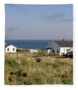 Houses In Low Hauxley. Fleece Blanket