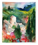 Houses In Montepulciano In Tuscany 01 Fleece Blanket